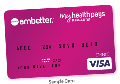 Sample image of My Health Pays Visa card